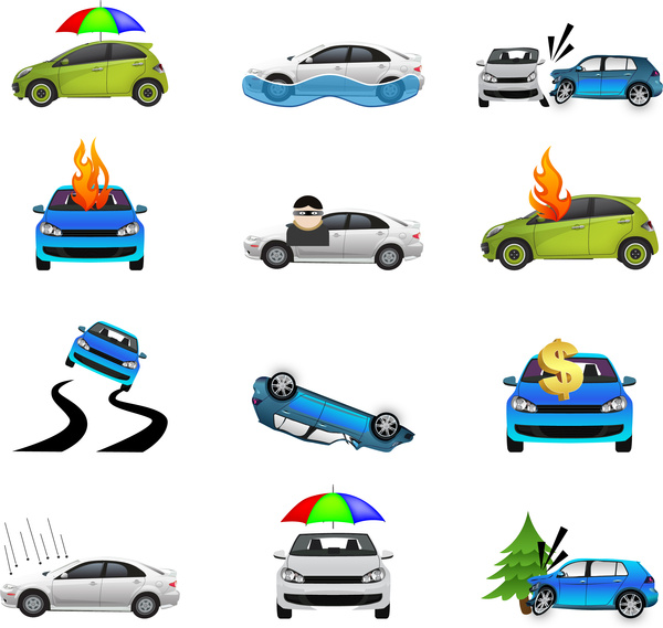 Cars icons collections Free vector in Adobe Illustrator ai.