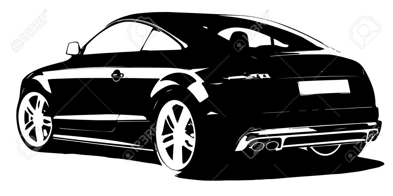 modern car silhouette.