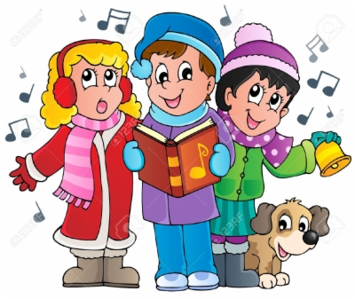 christmas carolers , Free clipart download.