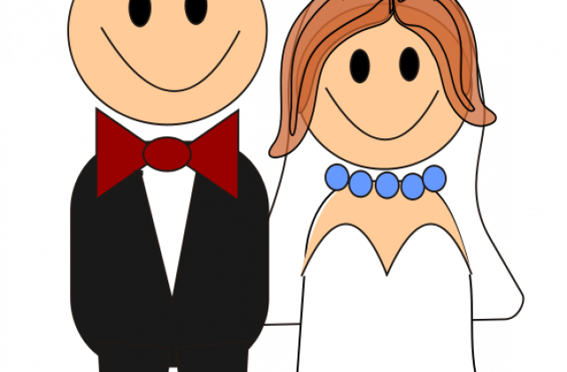 Showing post & media for Cartoon bride and groom clip art.