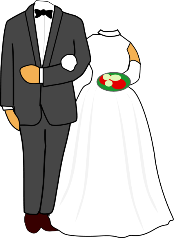 Free Bride And Groom Clipart Pictures.