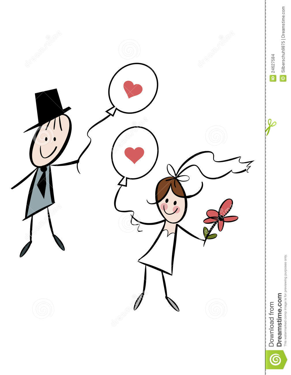 Free Cartoon Bride And Groom Clipart.