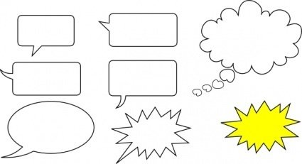 Outline Cartoon Shapes Free Shape Callouts Speech Bubbles Bubble.