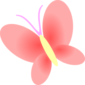 Pink Butterfly Clipart.
