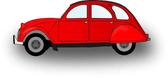 Cartoon Red Car Free Clipart.
