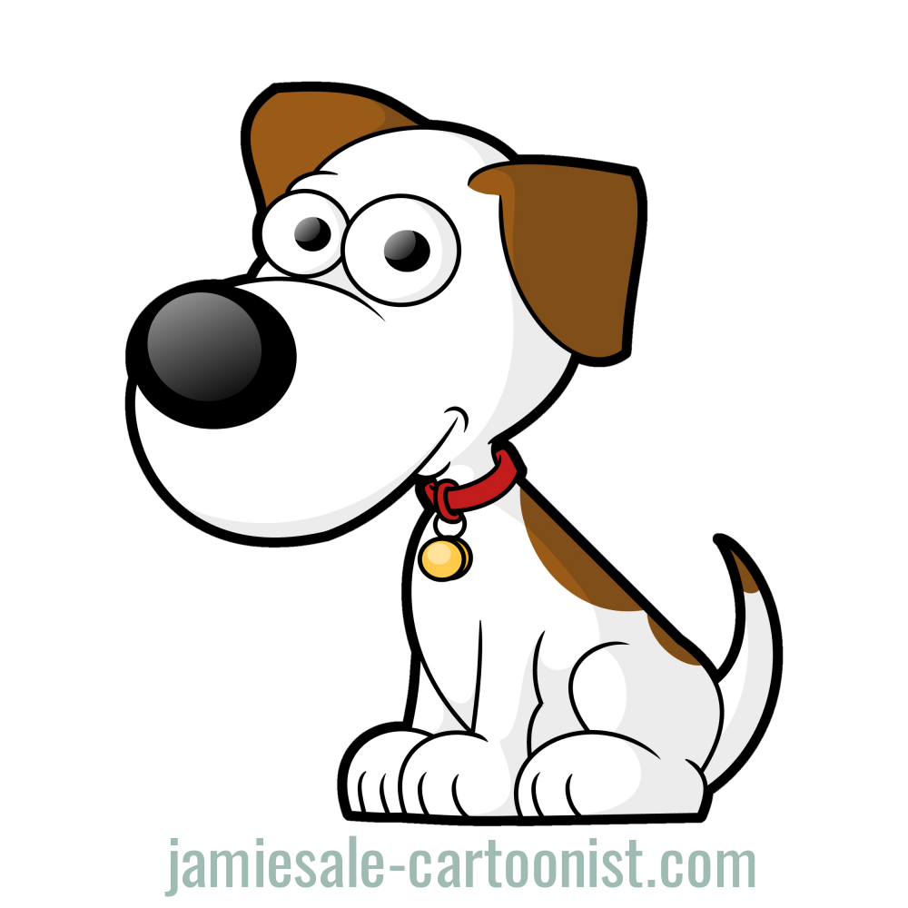 Free Cartoon Dog Vector Clip Art.
