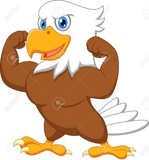 cute eagle clipart.