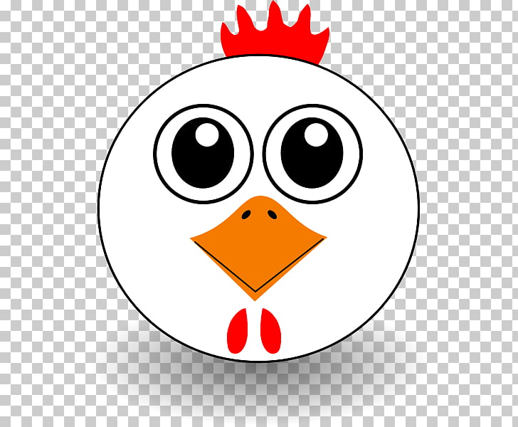 Chicken Cartoon Face , Funny Faces PNG clipart.