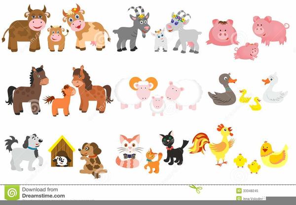 Free Cartoon Farm Animal Clipart.