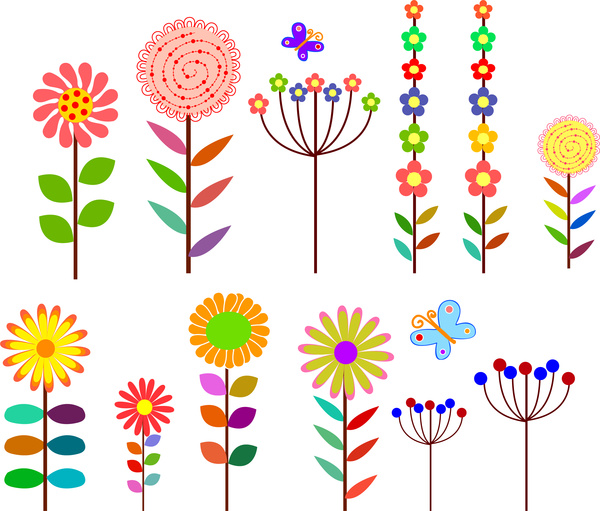 Cartoon flower clip art free vector download (210,891 Free vector.