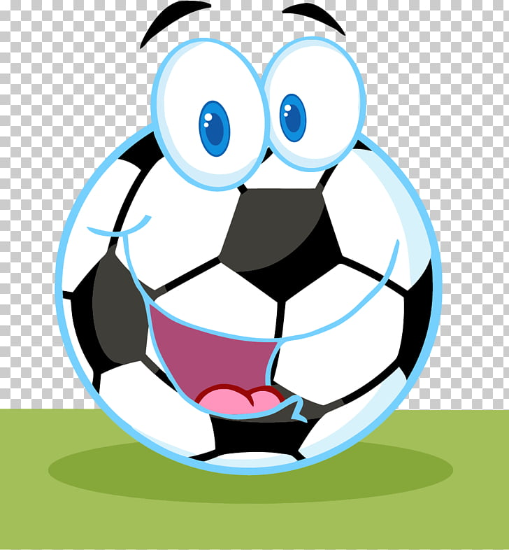 Cartoon Football player, soccer ball PNG clipart.