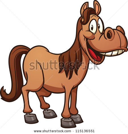 Cartoon Horse Stock Images, Royalty.