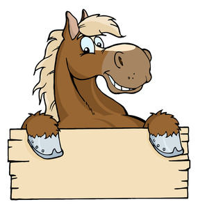 Free Cartoon Horse Clipart.