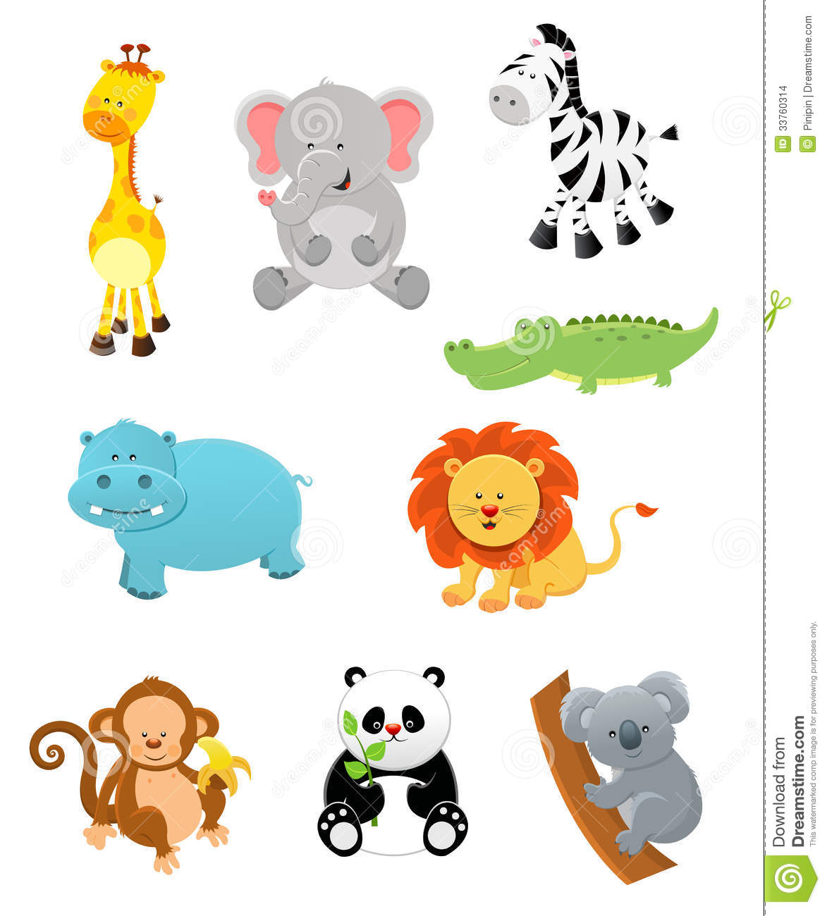 1475 Jungle Animals free clipart.