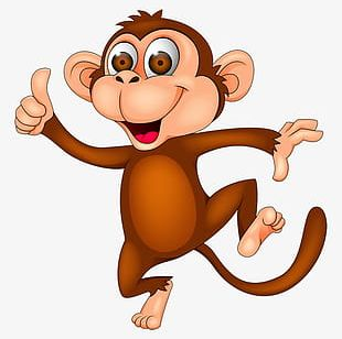 Cartoon Monkey Clipart PNG Images, Cartoon Monkey Clipart Clipart.