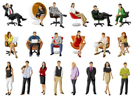 Free vector about cartoon people working Clipart Picture.