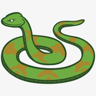 Smooth Green Snake Clipart Poker.