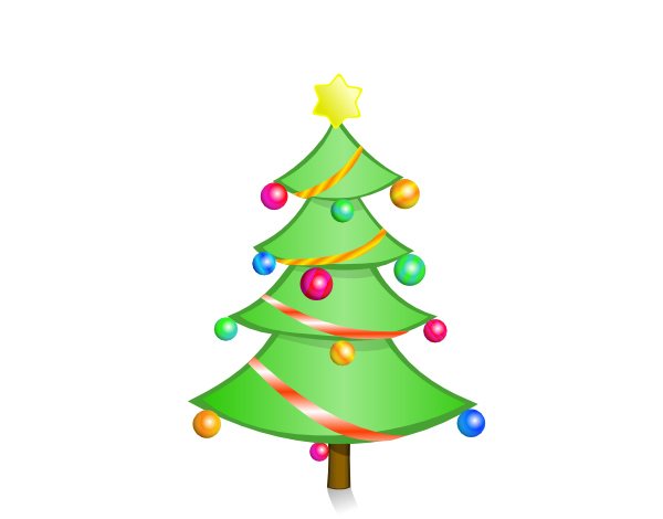 Cartoon Christmas Tree Clipart.