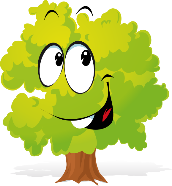 Free Cartoon Tree Clipart.