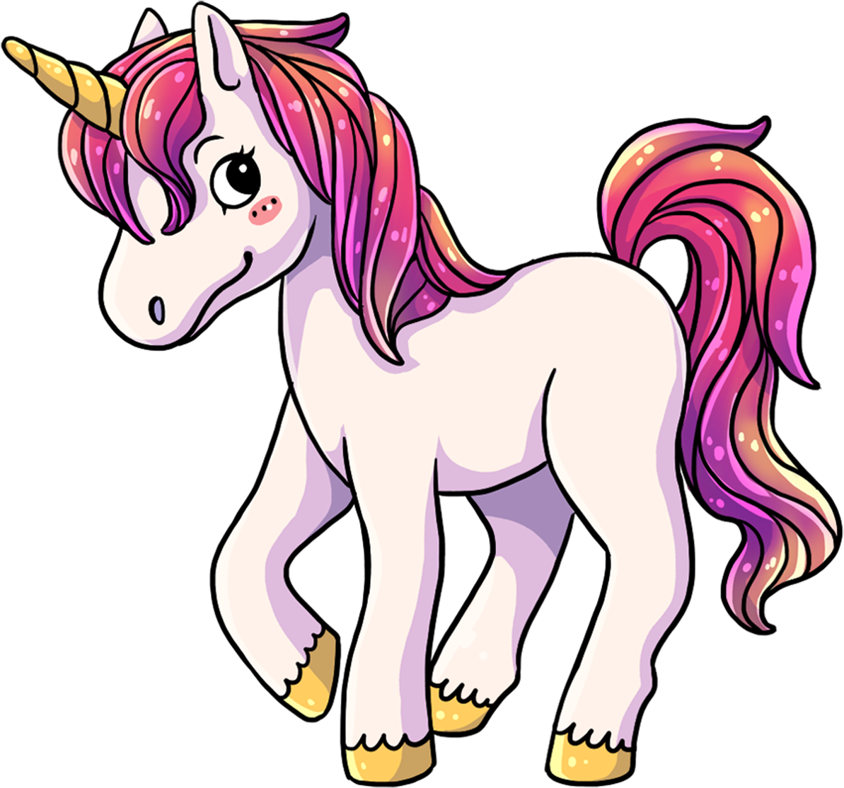 This Lovely Cartoon Unicorn Clip Art.