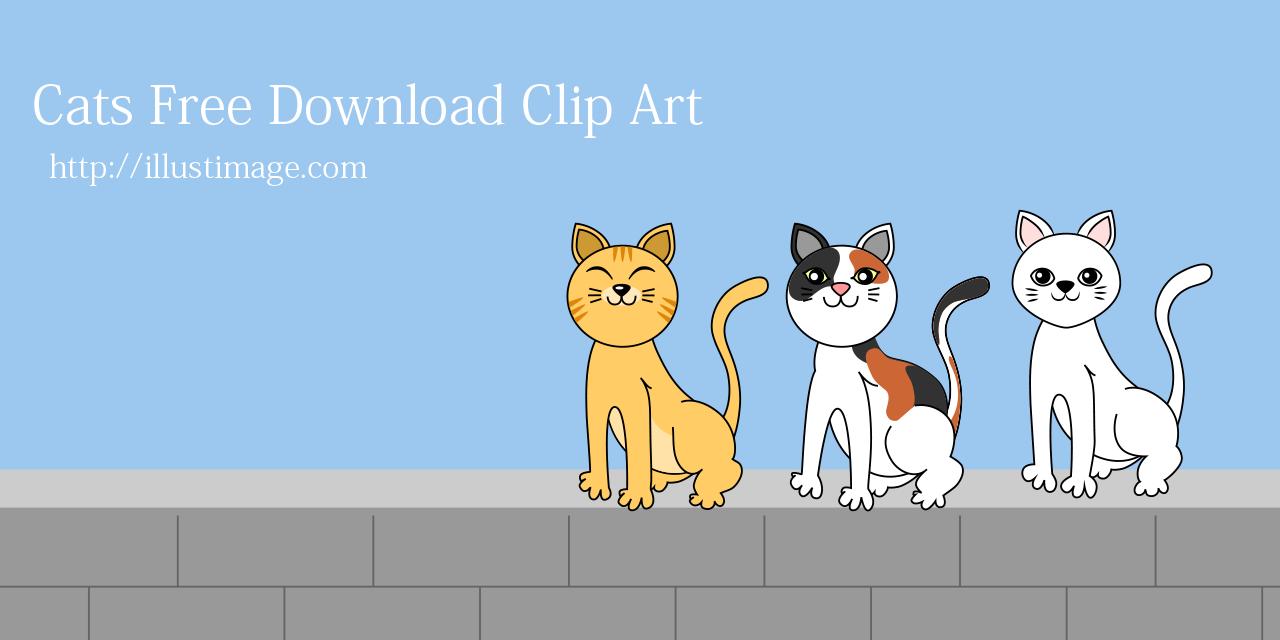 Cat Free Clipart & Cartoon Pictures|Illustoon.