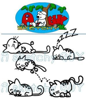 Fun Cats / Kittens Clipart Graphics Free / Freebie.
