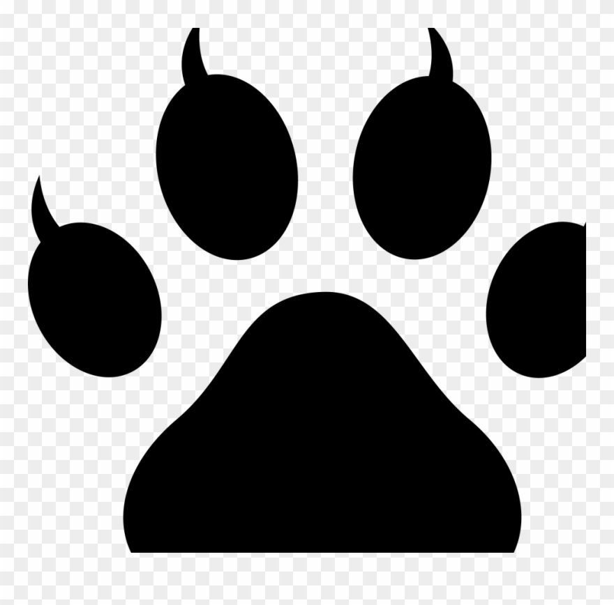 Dog Paw Stencil Download Free Cat Paw Print Clipart (#3011336.