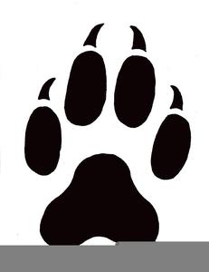 Free Clipart Cat Paw Print.