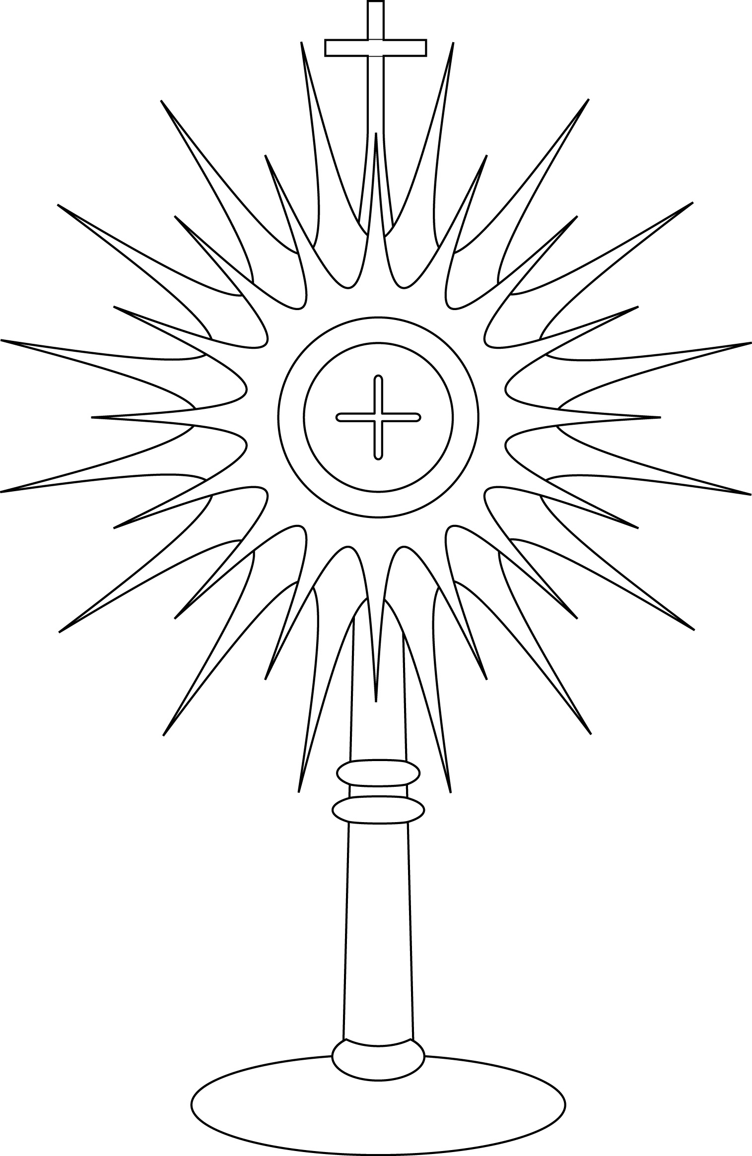 monstrance coloring page.