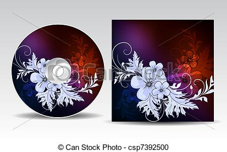 Vector Clipart of CD cover design.