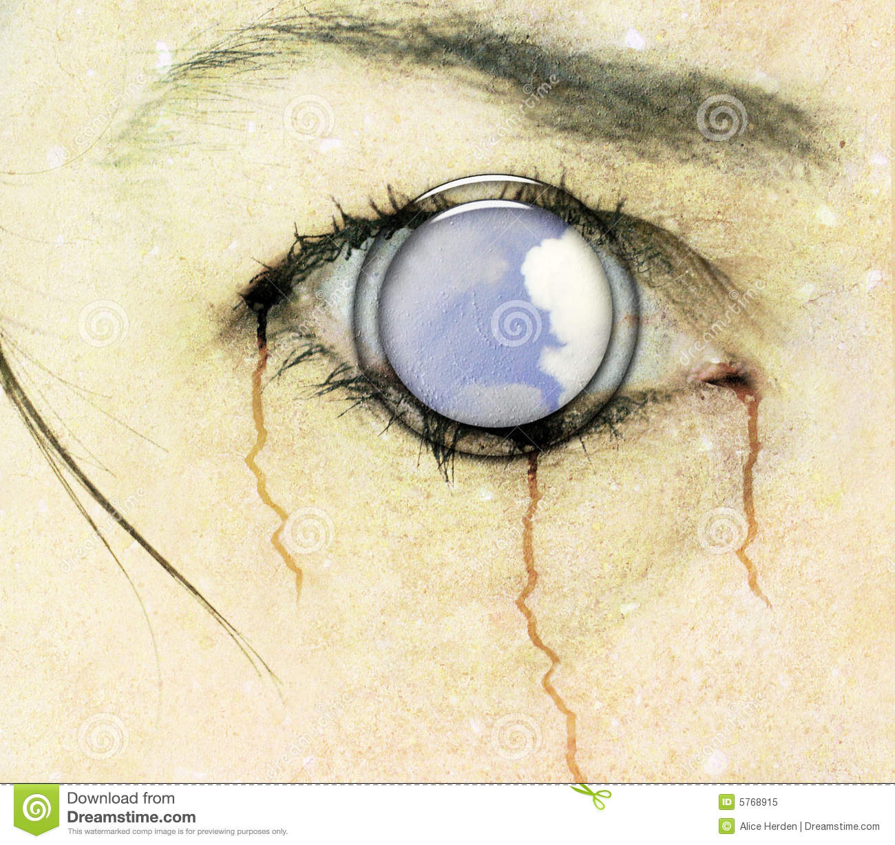 Horror Eye Cd Cover Art Royalty Free Stock Photo.