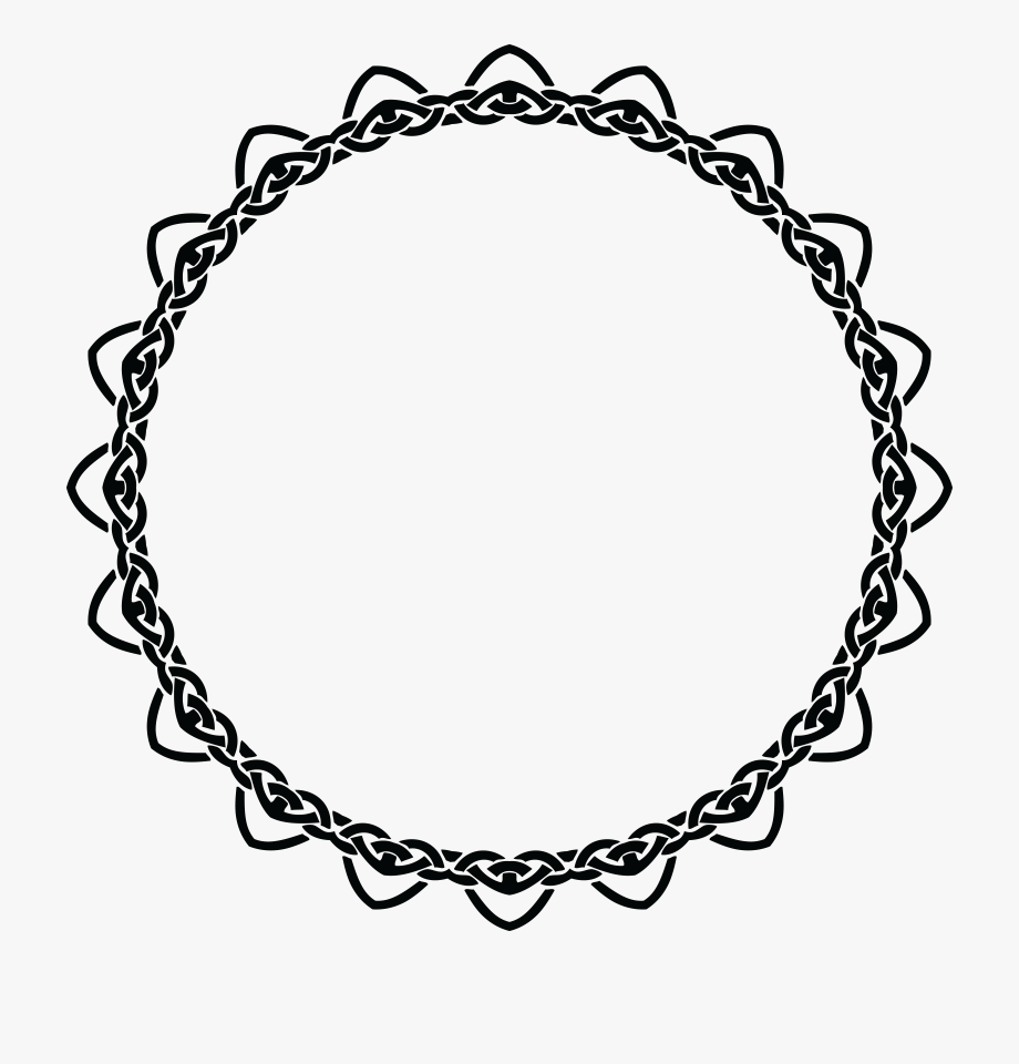 Free Clipart Of A Celtic Round Frame Border Design.