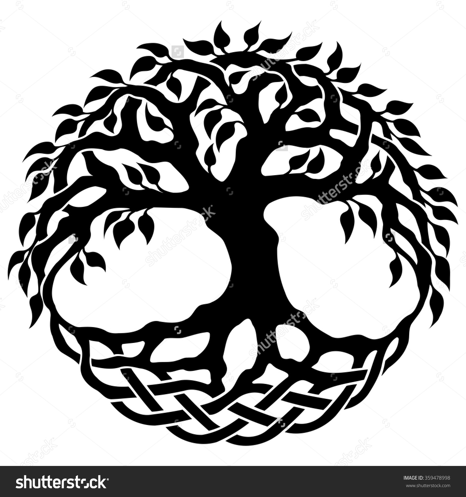 Giant Tree Wall Sticker Free Celtic Tree Of Life Clipart Clipground