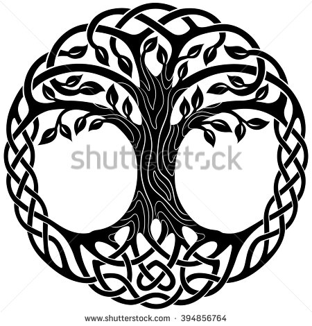 Vector ornament, decorative Celtic tree of life ….