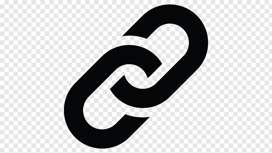Black chain logo, Computer Icons Hyperlink Symbol, chain.