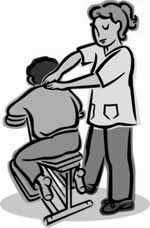 Corporate Chair Massage Clipart.