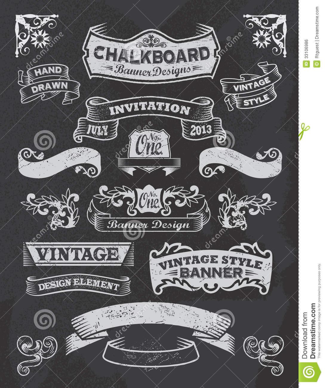 chalkboard banners free download.