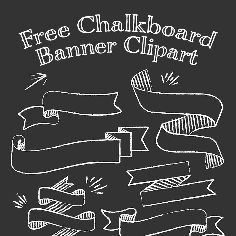 Free Chalkboard Banner Clipart.