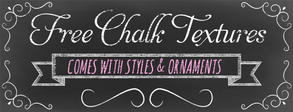 Free Chalk Board Textures Kit & Adorable Chalk Style Fonts.