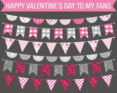 Download these bunting banners to use for your party printables.