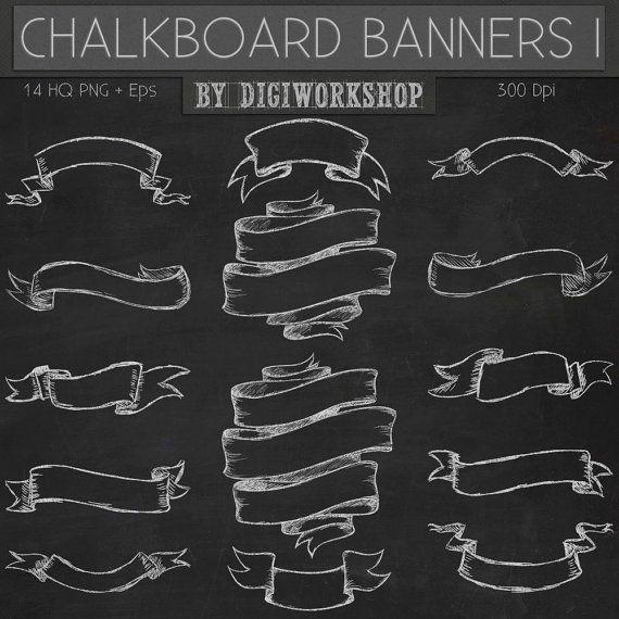 Chalkboard Banners Free.