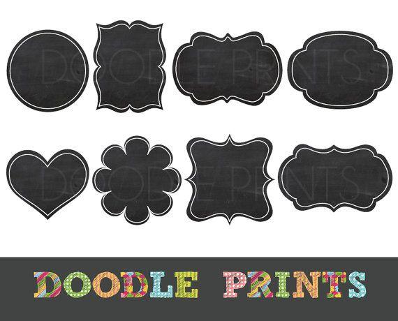 Free Chalkboard Clipart Frames.