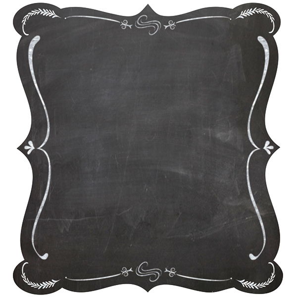 Chalkboard Papers with Frames.