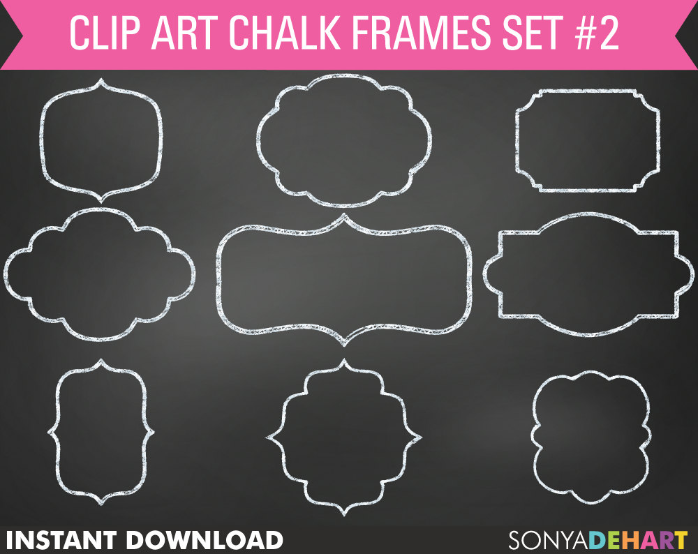 Chalk clipart frame, Chalk frame Transparent FREE for.