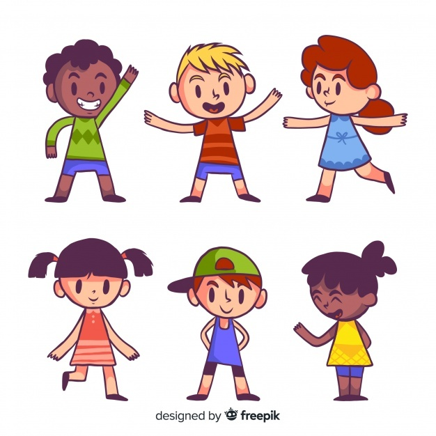 Free Children characters collection SVG DXF EPS PNG.