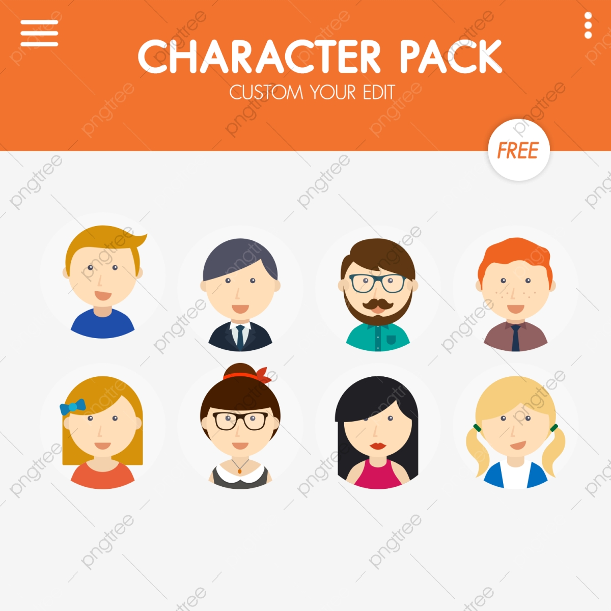 Character Pack, Character, Characters, Clipart PNG Transparent.