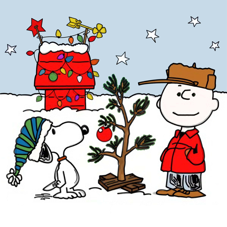 Charlie Brown Christmas drawing free image.