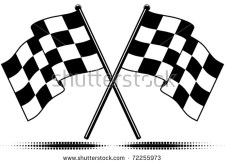 Checkered Flag Stock Images, Royalty.