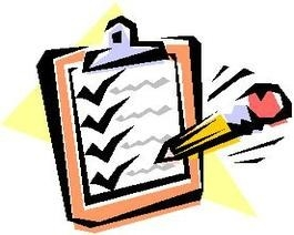 Checklists Clipart.