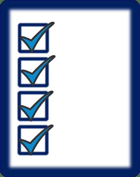 Free checklist clipart 3 » Clipart Portal.
